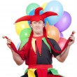 Stock Photo: Jester with balloons