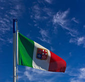 Italian Navy flag — Stock Photo
