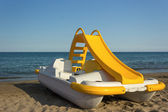 Yellow Pedal Boat — Stock Photo