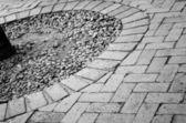 黒 & 白い舗装 — ストック写真