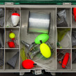 Tackle Box Inside View — Stock Photo