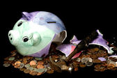 Breaking the Bank (Concept)O — Stock Photo