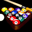 Billiards - Rack-CueStick — Stock Photo