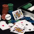 Poker - Chips - Cards — Stock Photo