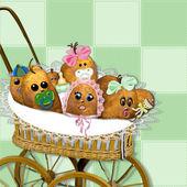 Baby Potato Spuds — Stock Photo