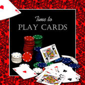 Time to Play Cards - Photo/Graphic — Stock Photo