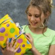 Stock Photo: Happy Girl w/Present