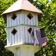 Patriotic Birdhouse - Stock Photo