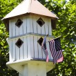 Patriotic Birdhouse — Stock Photo