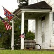 Stock Photo: Confederate and Rebel Flags