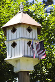 Patriotic Birdhouse — Stock Photo