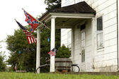 Confederate and Rebel Flags — Stock Photo