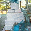 Blue Christmas Wrapping — Stock Photo