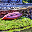 Stock Photo: Turned Over Canoe