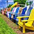 Wooden Lawn Chairs - Stock Photo