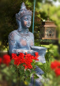 Princess Buddha a mythical figure in a garden — Stock Photo