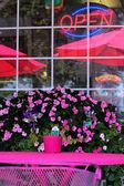 Outside cafe — Stock Photo