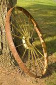 Rustic Wagon Wheel — Stock Photo
