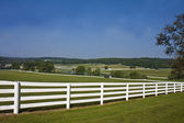 Beautiful Country View - Fence — Stock Photo