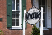 Antique Store Front and Sign — Stockfoto