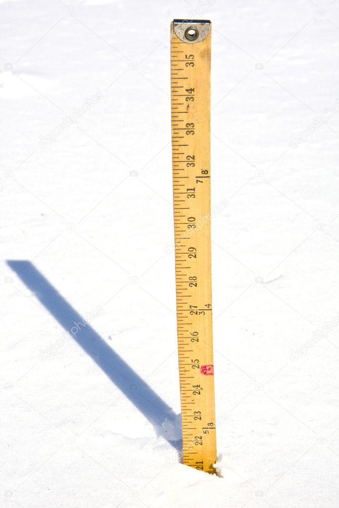 Yardstick measuring Snow — Stock Photo © TrudyWilkerson ...