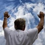Man Worshiping God — Stock Photo