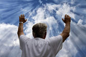 Man Worshiping God — Stock Photo