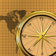 Compass/Map Graphic/Illustration — Stock Photo