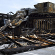 Stock Photo: Full View Restaurant Burnt down
