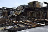 Full View Restaurant Burnt down — Stock Photo