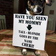 Stock Photo: Funny Doggy & Sign