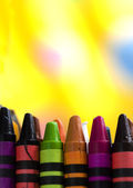 Upright Background with Crayons — Stock Photo