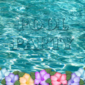 Pool Party Illustration — Stock Photo