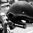 Stock Photo: Motorcycle Helmet on Handles