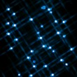 Defocused image of blue lights — Stock Photo