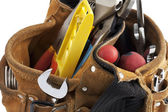 Work tools in tool belt — Stock Photo