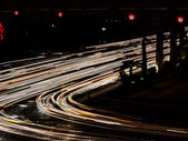 Abstract view of lights at road — Stock Photo