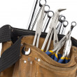 Tool belt with spanners and pliers — Stock Photo