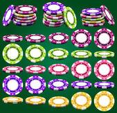 Casino chips — Stock Vector