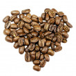 Coffee beans in shape of heart — Stock Photo #11843862