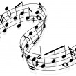Music notes - Imagen vectorial