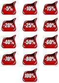 Discount percentage — Stock Vector