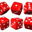 Set of red casino craps — Stock Photo #11858391
