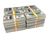 Stack of 100 dollar bills — Stock Photo