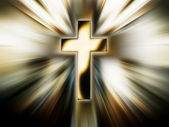 Golden cross — Stock Photo