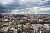 Panorama of Lviv city — Stock Photo