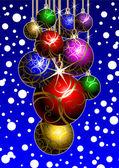 New Year's ball — Vector de stock