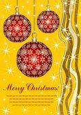 Tarjeta navideña - feliz navidad — Vector de stock