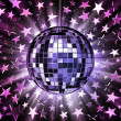 Stock Photo: Mirrored disco ball and stars
