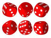 Set of red casino craps — Stock Photo